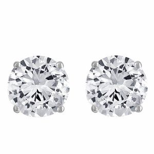Lab-Created White Sapphire Stud Earrings